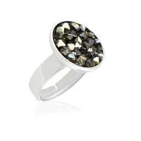 Безразмерное кольцо KOBI REMI с кристаллами Swarovski
